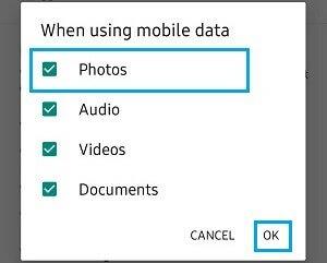 Разрешить загрузку фото